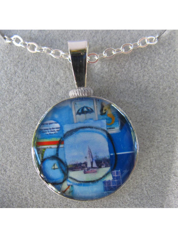 seaport sterling silver pendant