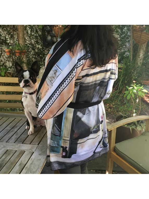 Passing Through jersey knit kimono