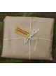 brown paper package, tied up with string