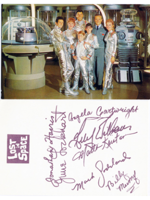 #44 Lost In Space Vintage postcard