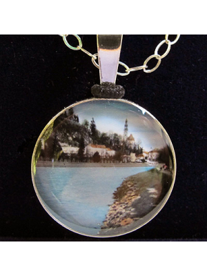river runs sterling silver pendant