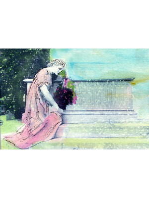 Saying Goodbye - art print