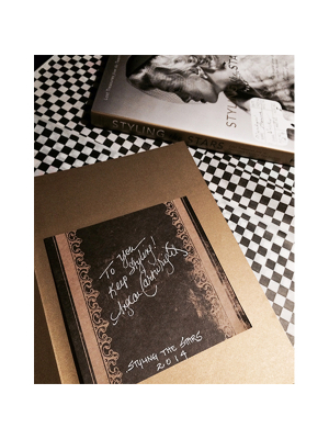 Bookplate autographed for Styling The Stars book + photograph