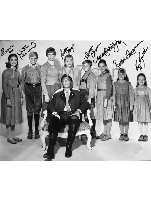 #105 VonTrapp Chair-Sound of Music SOM7 signed photo 11x13