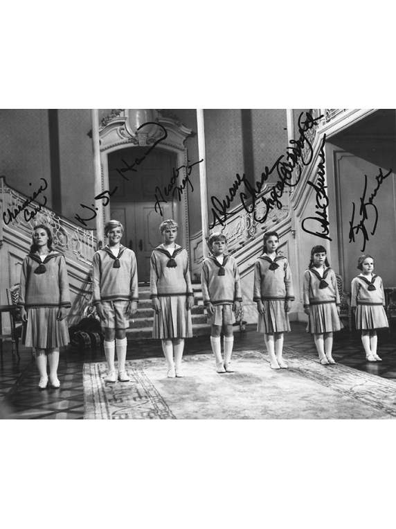 #101 Line Up-Sound of Music SOM7 signed photograph