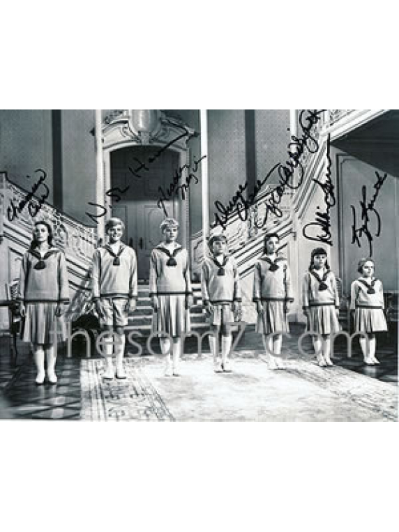 Signed photo by ALL 7 von Trapp kids