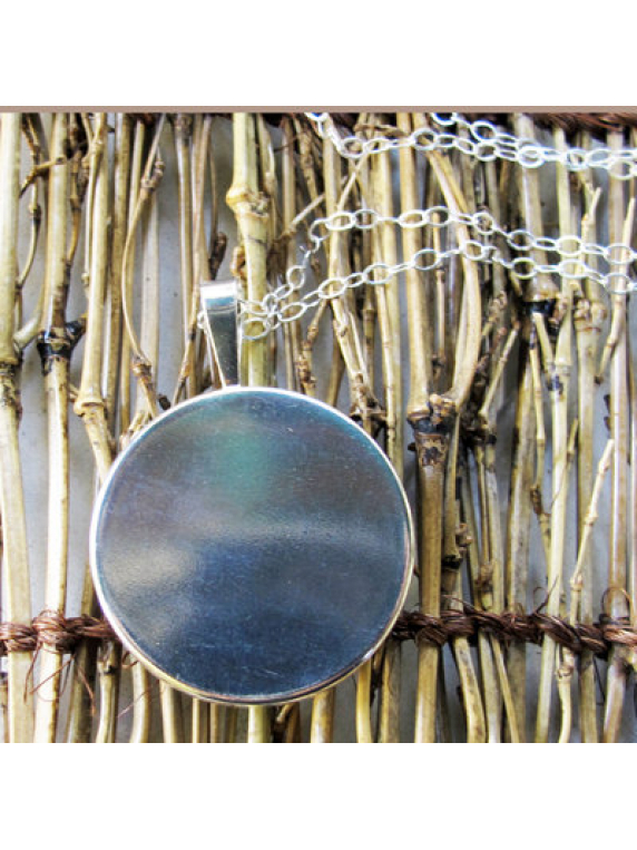river runs sterling silver pendant back