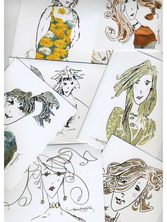 unruly girl note cards