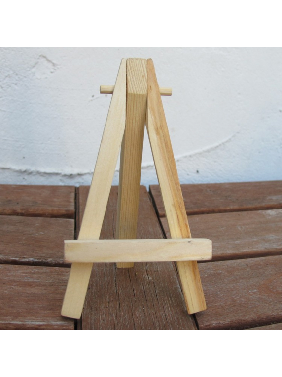 mini natural wood easel