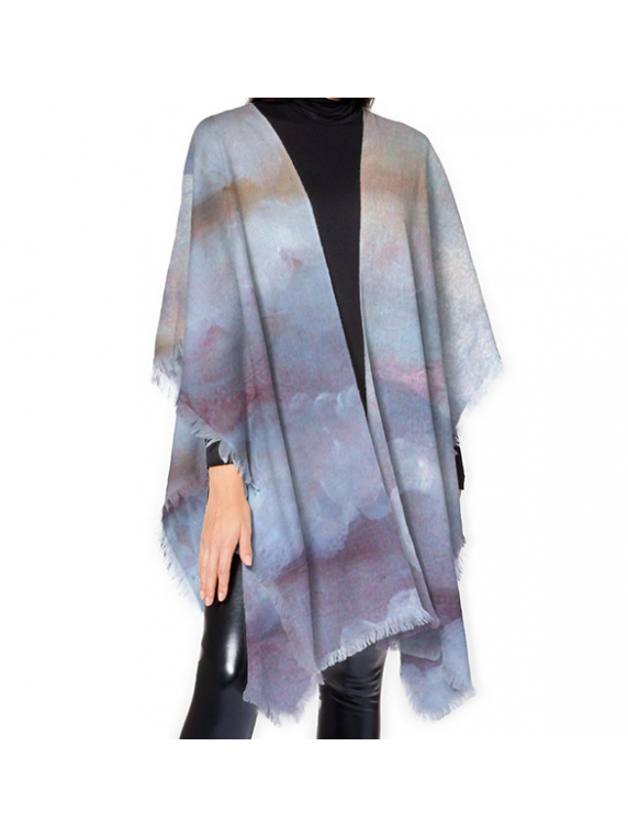 Cloudy Day Wool Poncho