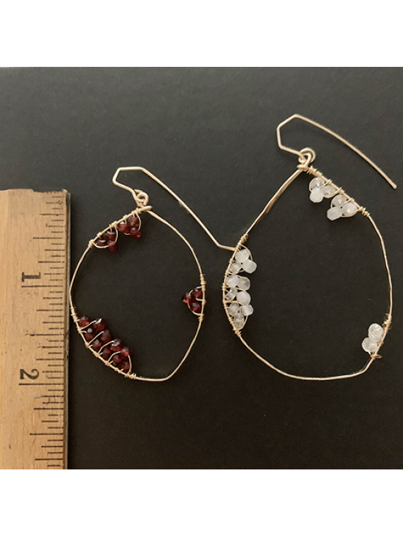 Full Moon Earrings medium - large