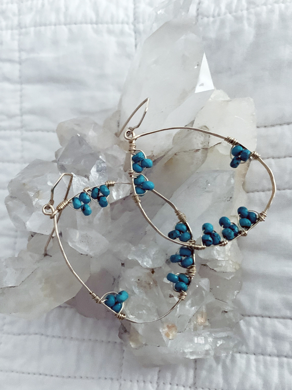 Full Moon Earrings - turquoise