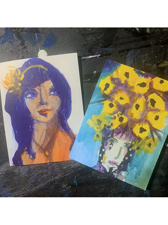 Liminal Ladies art note cards