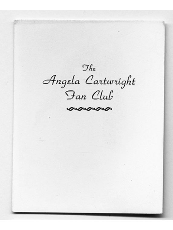 47 Angela Vintage Fan Club card