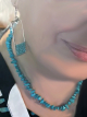 Novelette earrings and Turquoise Road Necklace