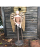 wooden Santos statue wings