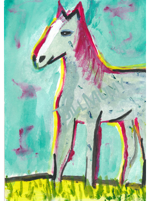 #9 Morning Horse  - signed art print