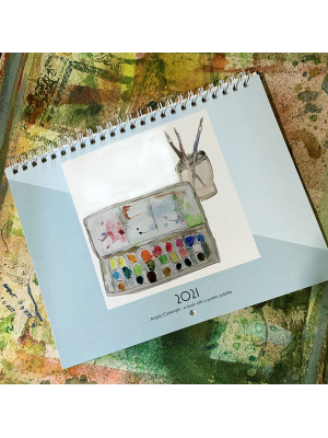 2021 Brush With A Poetic Palette Calendar