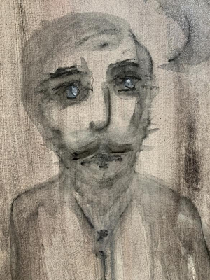 Albert - Mixed Media Original