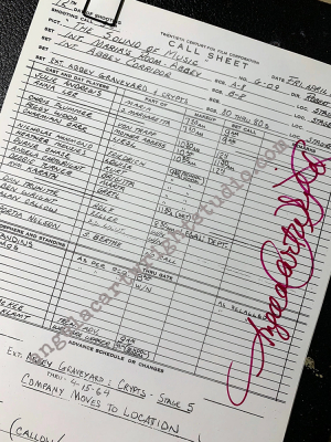 #126 Sound Of Music Call Sheet - Maria's room - Abbey & Abbey Corridor