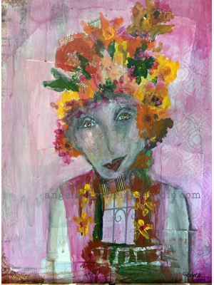 Louise- Mixed Media Original