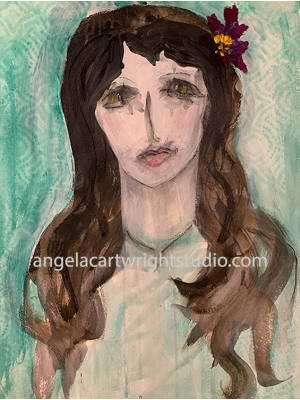 Magdalena - Mixed Media Original