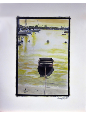On Golden Pond - hand-painted photograph