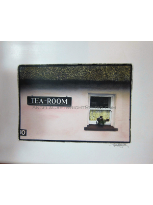 Tea Room - original hand painted photograph