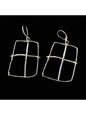 Window Earrings Sterling SIlver
