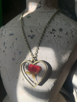 Rosebud Heart Necklace