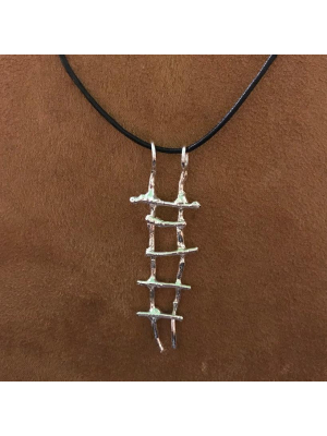 Purpose Quest Ladder Pendant on Leather