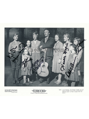 On Stage cast photo signed by 6 cast members