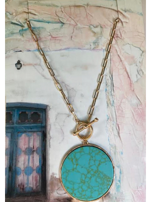 Full Moon Long Necklace with art