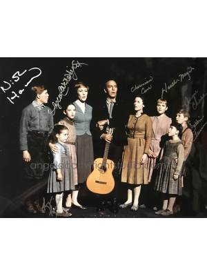 #104 On Stage-Sound of Music SOM7 signed photo 11x13