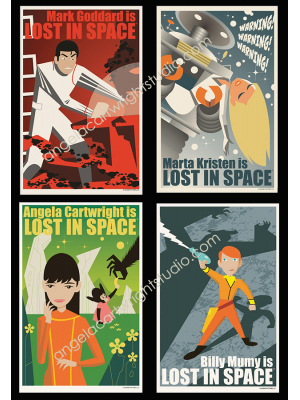 #91 Lost In Space cast 4 poster