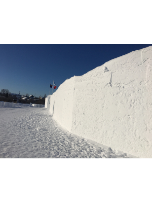 The Snowcastle wall